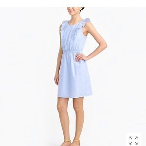 J. Crew Factory Ruffle- shoulder Dress